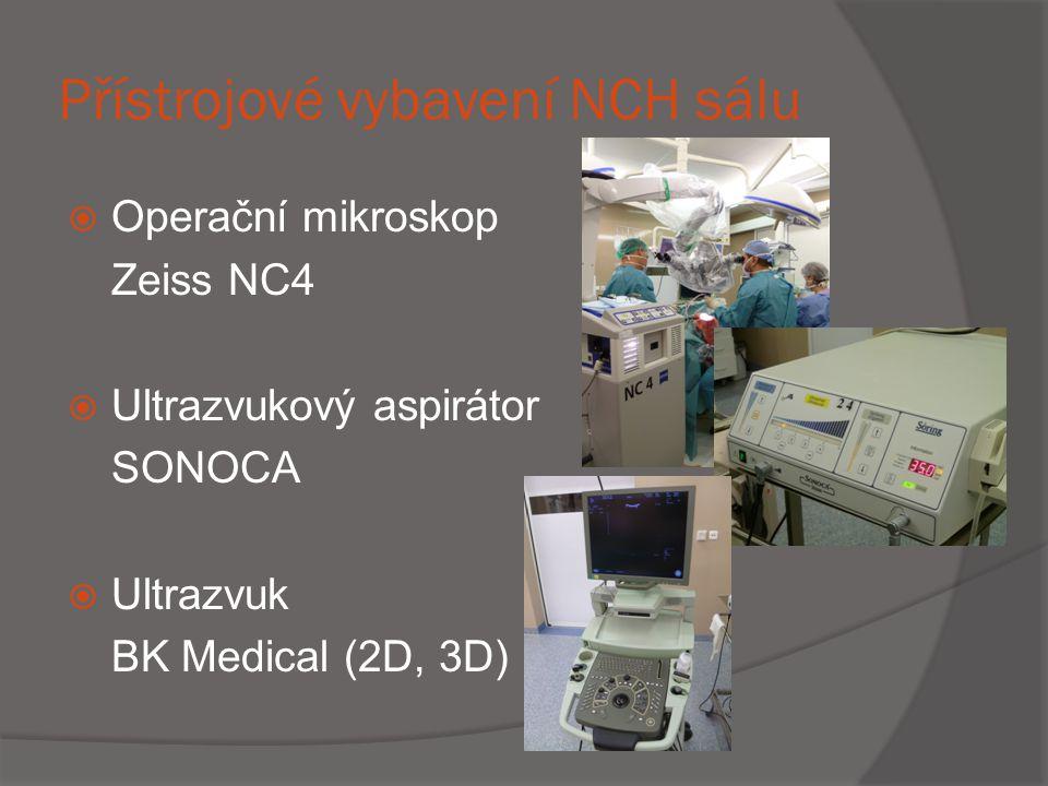 Přístrojové vybavení NCH sálu