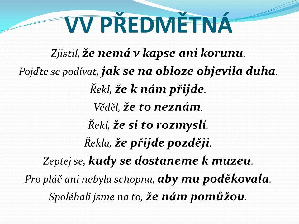 VV PŘEDMĚTNÁ