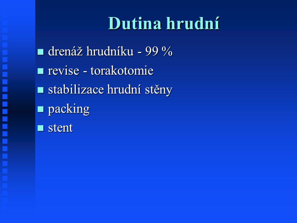Dutina hrudní drenáž hrudníku - 99 % revise - torakotomie