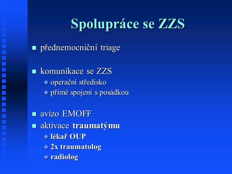 Spolupráce se ZZS přednemocniční triage komunikace se ZZS avízo EMOFF