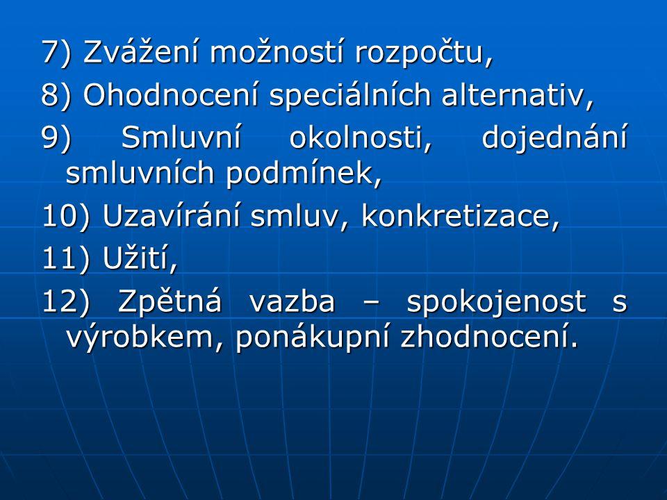 7) Zvážení možností rozpočtu,