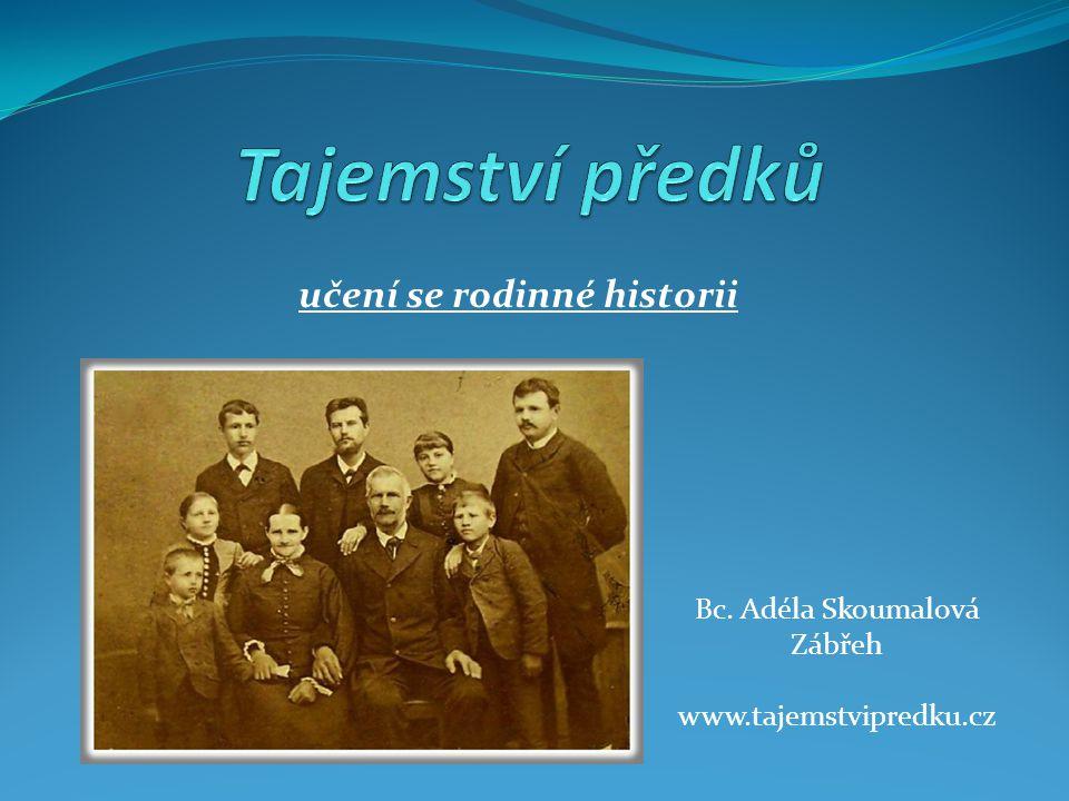 učení se rodinné historii