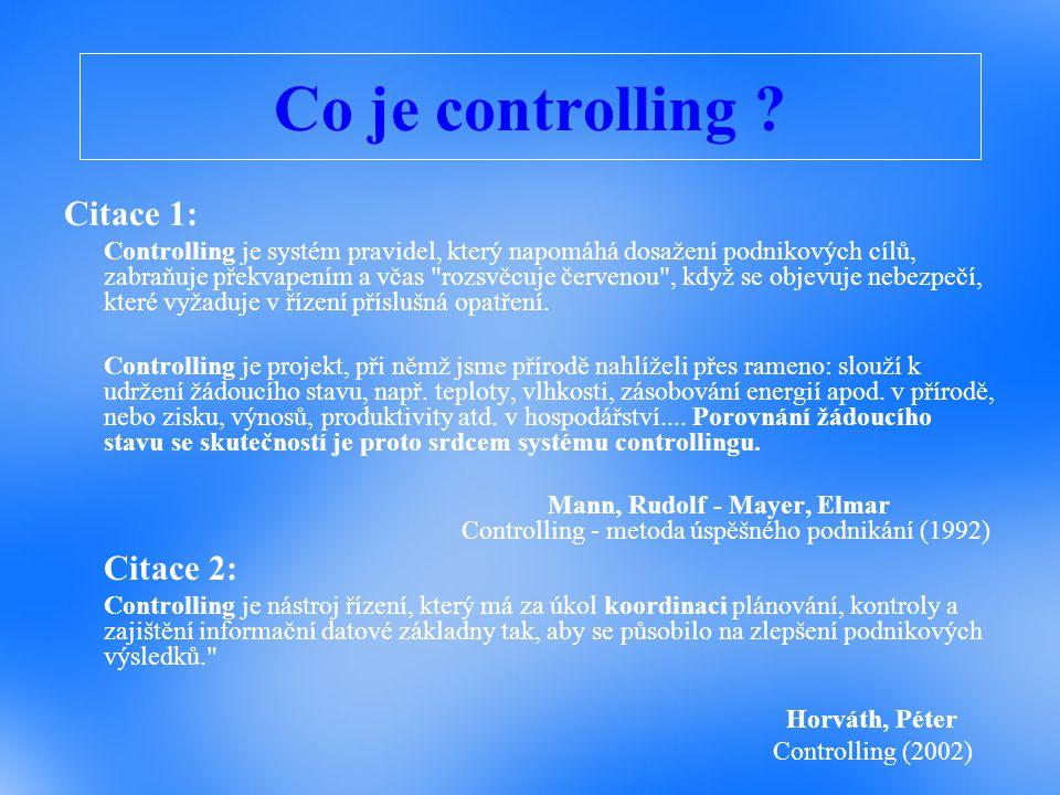 Co je controlling Citace 1: