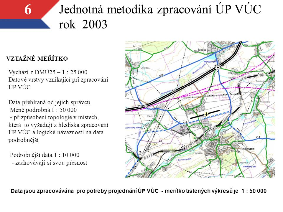 Jednotná metodika zpracování ÚP VÚC rok 2003