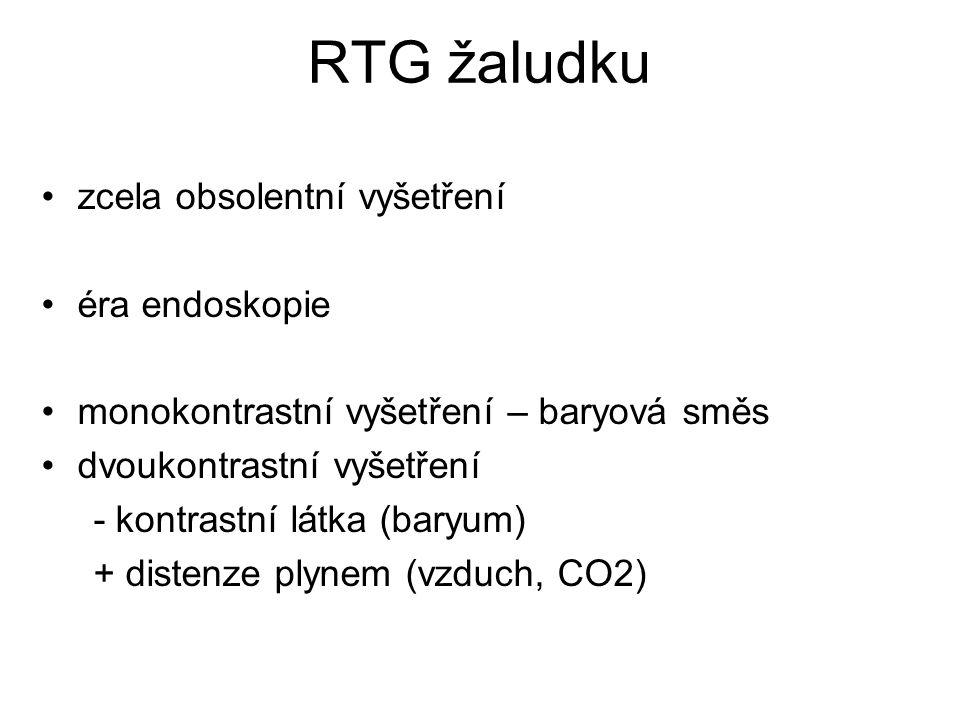 RTG žaludku zcela obsolentní vyšetření éra endoskopie