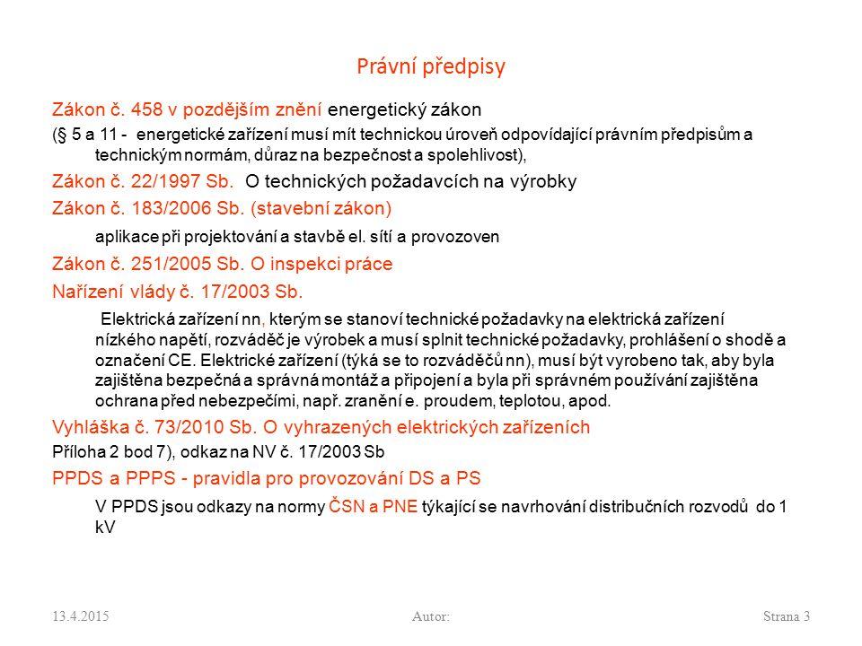 Právní předpisy Zákon č. 458 v pozdějším znění energetický zákon