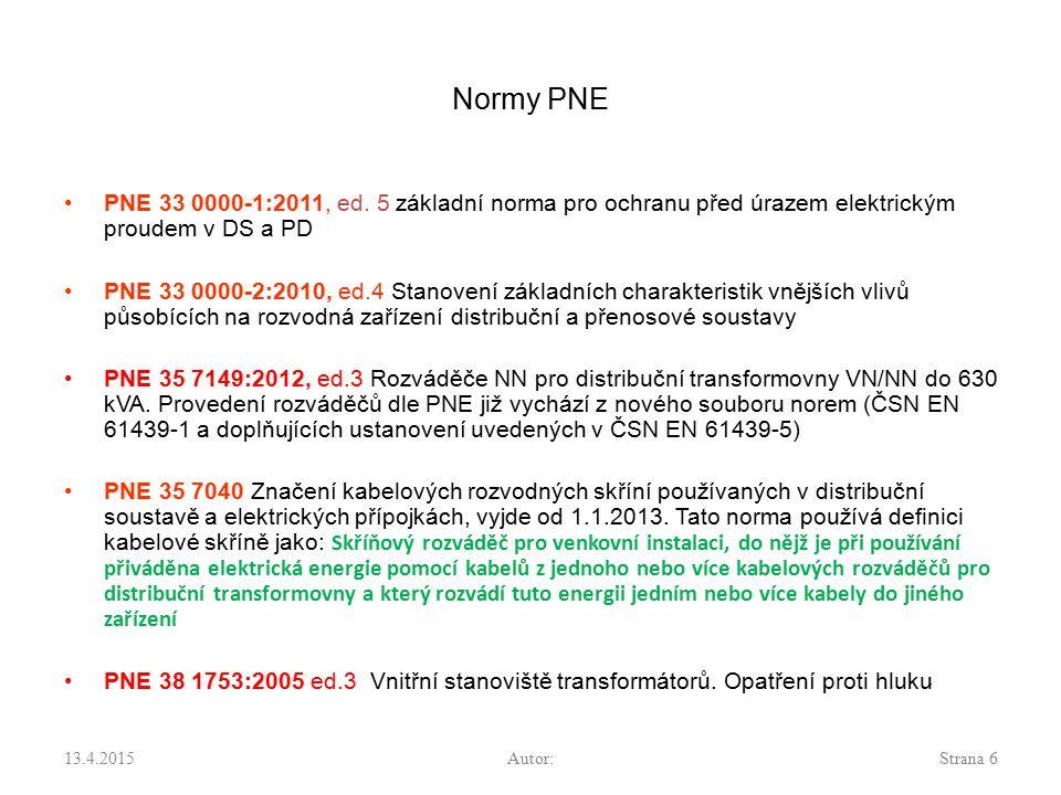Normy PNE PNE 33 0000-1:2011, ed. 5 základní norma pro ochranu před úrazem elektrickým proudem v DS a PD.