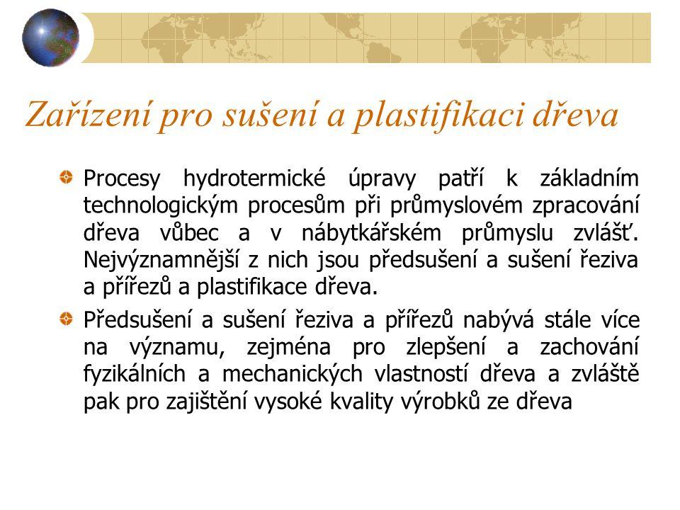 Zařízení pro sušení a plastifikaci dřeva