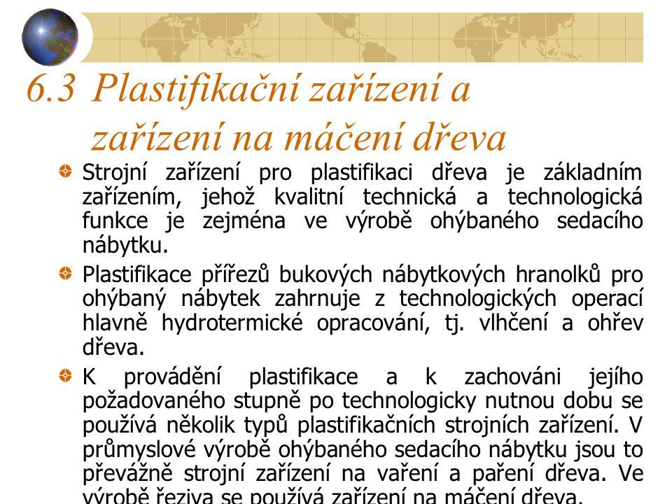 6.3 Plastifikační zařízení a zařízení na máčení dřeva