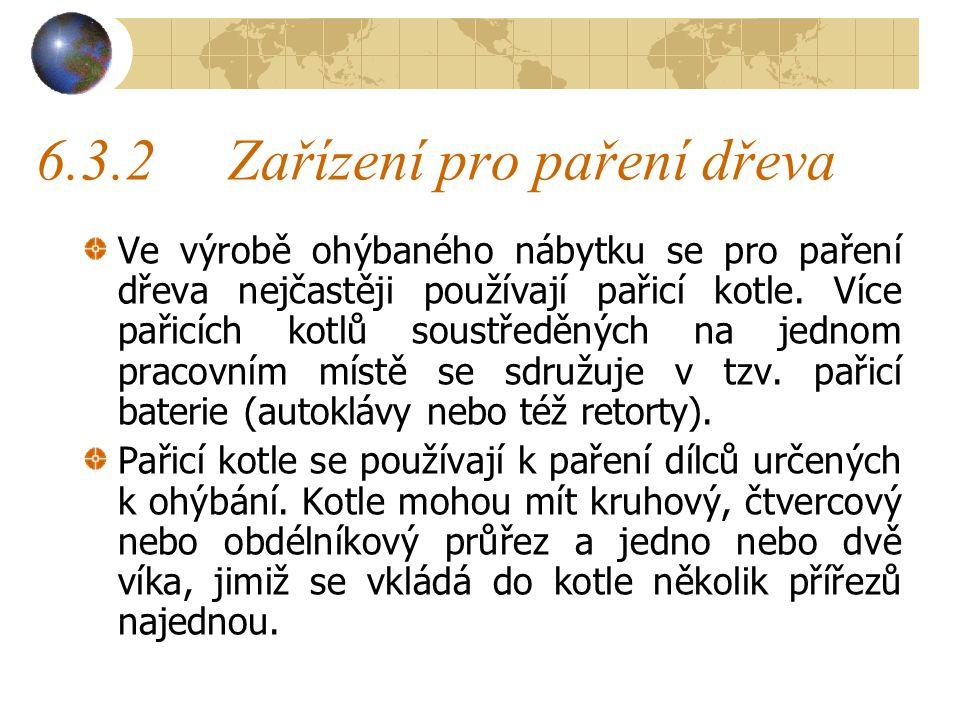 6.3.2 Zařízení pro paření dřeva