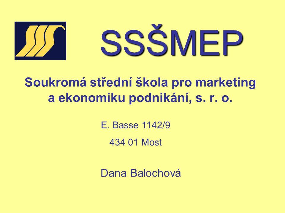 Soukromá střední škola pro marketing a ekonomiku podnikání, s. r. o.