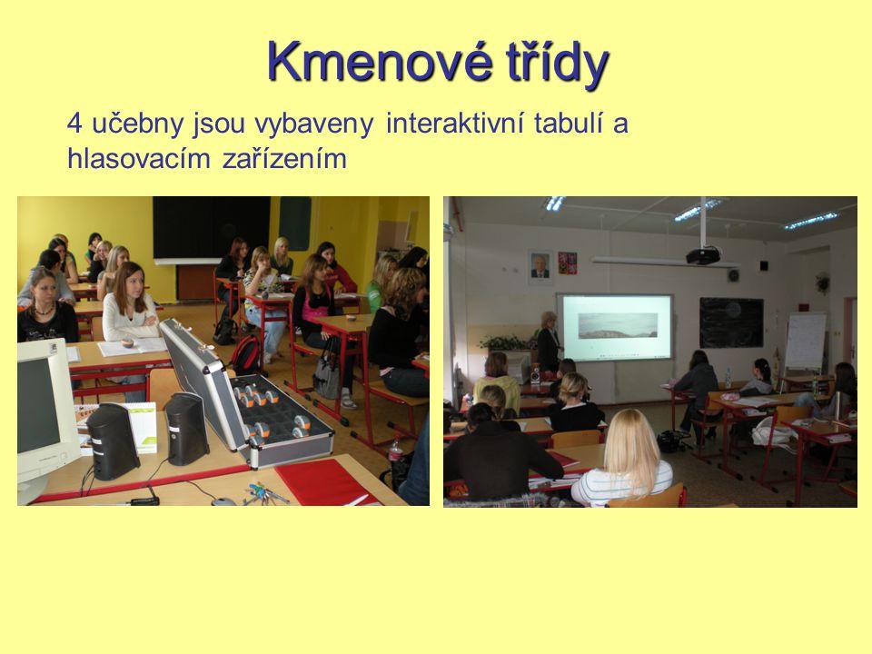 Kmenové třídy 4 učebny jsou vybaveny interaktivní tabulí a