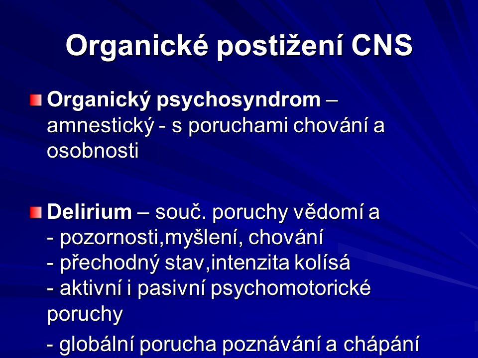 Organické postižení CNS