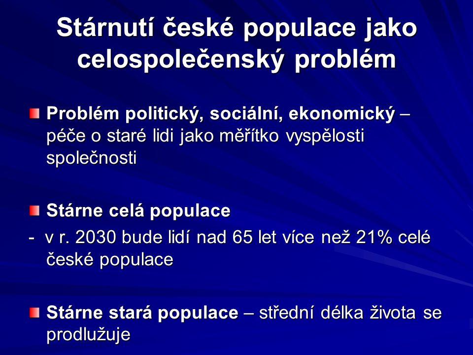 Stárnutí české populace jako celospolečenský problém