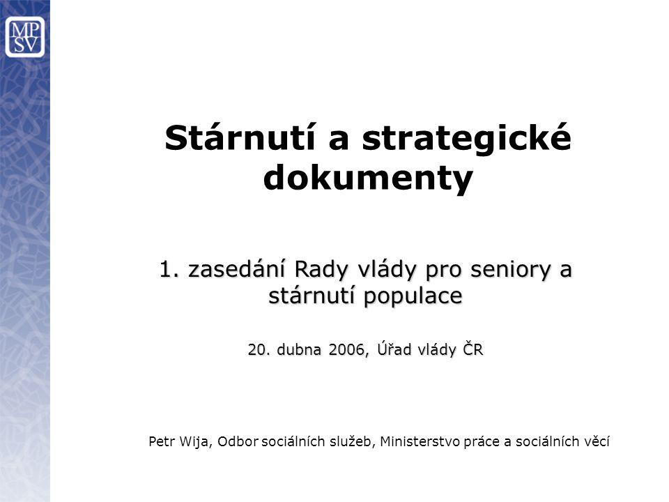 Stárnutí a strategické dokumenty