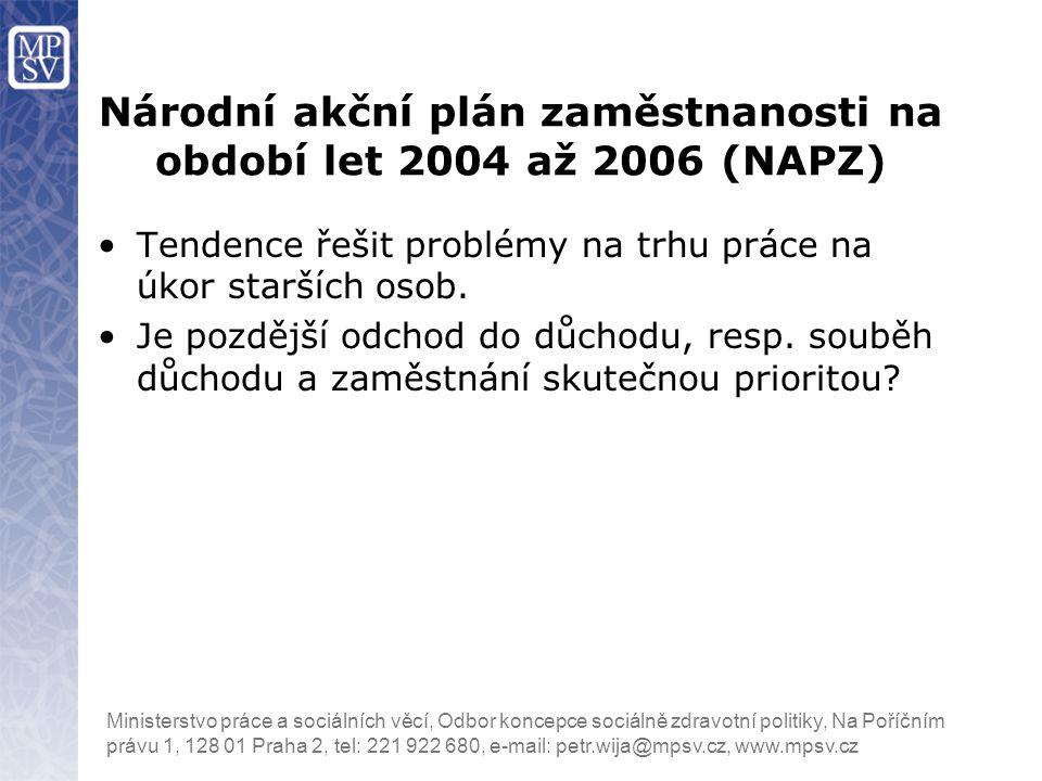 Národní akční plán zaměstnanosti na období let 2004 až 2006 (NAPZ)