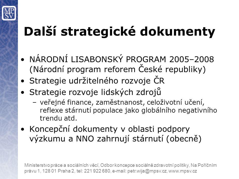 Další strategické dokumenty