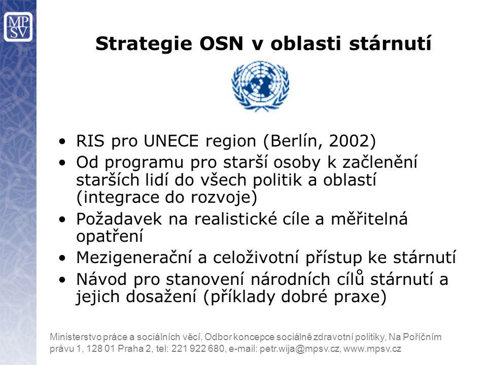 Strategie OSN v oblasti stárnutí