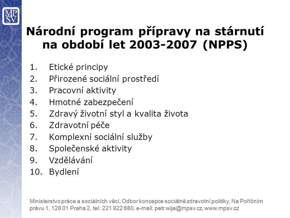 Národní program přípravy na stárnutí na období let 2003-2007 (NPPS)