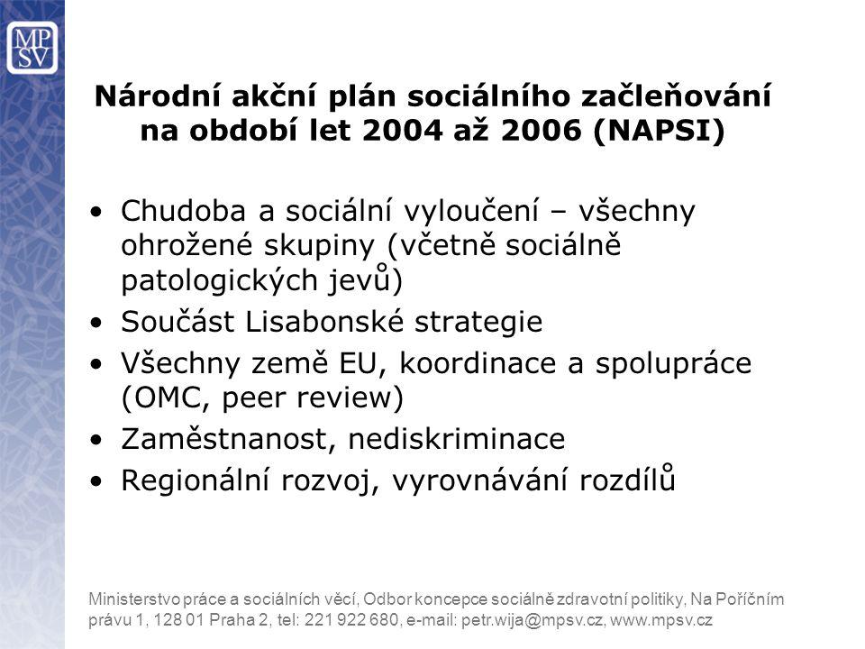 Národní akční plán sociálního začleňování na období let 2004 až 2006 (NAPSI)