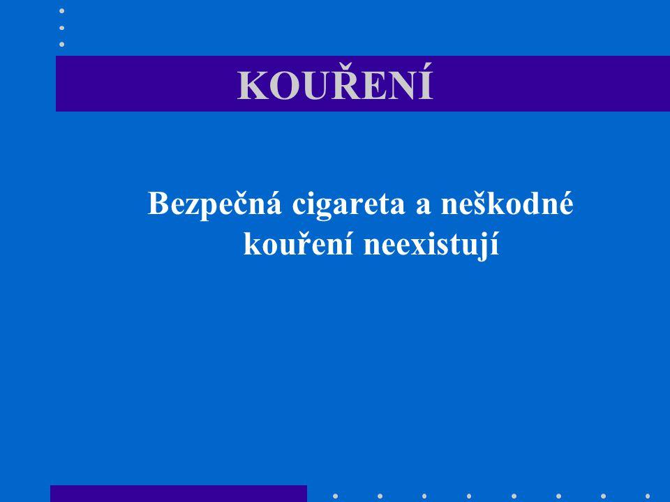 Bezpečná cigareta a neškodné kouření neexistují