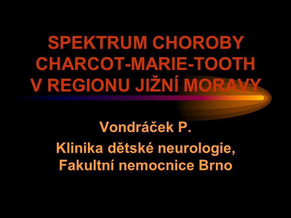 SPEKTRUM CHOROBY CHARCOT-MARIE-TOOTH V REGIONU JIŽNÍ MORAVY