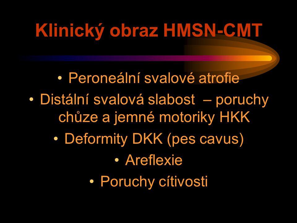 Klinický obraz HMSN-CMT