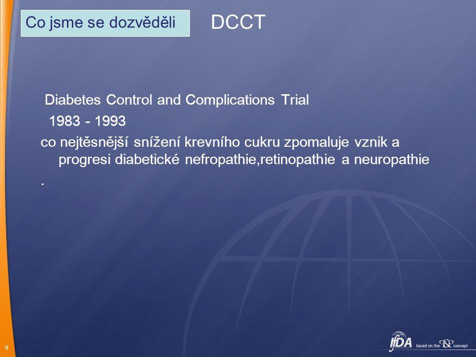 DCCT Co jsme se dozvěděli