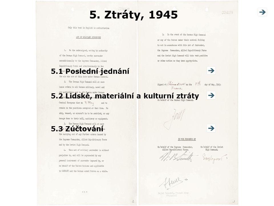 5. Ztráty, 1945 5.1 Poslední jednání