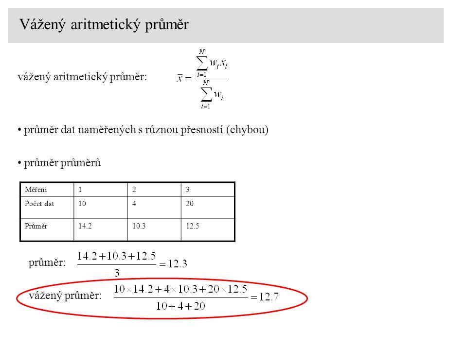 Vážený aritmetický průměr