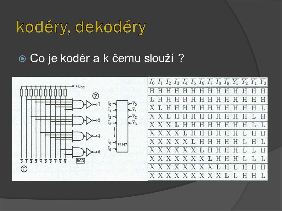 kodéry, dekodéry Co je kodér a k čemu slouží