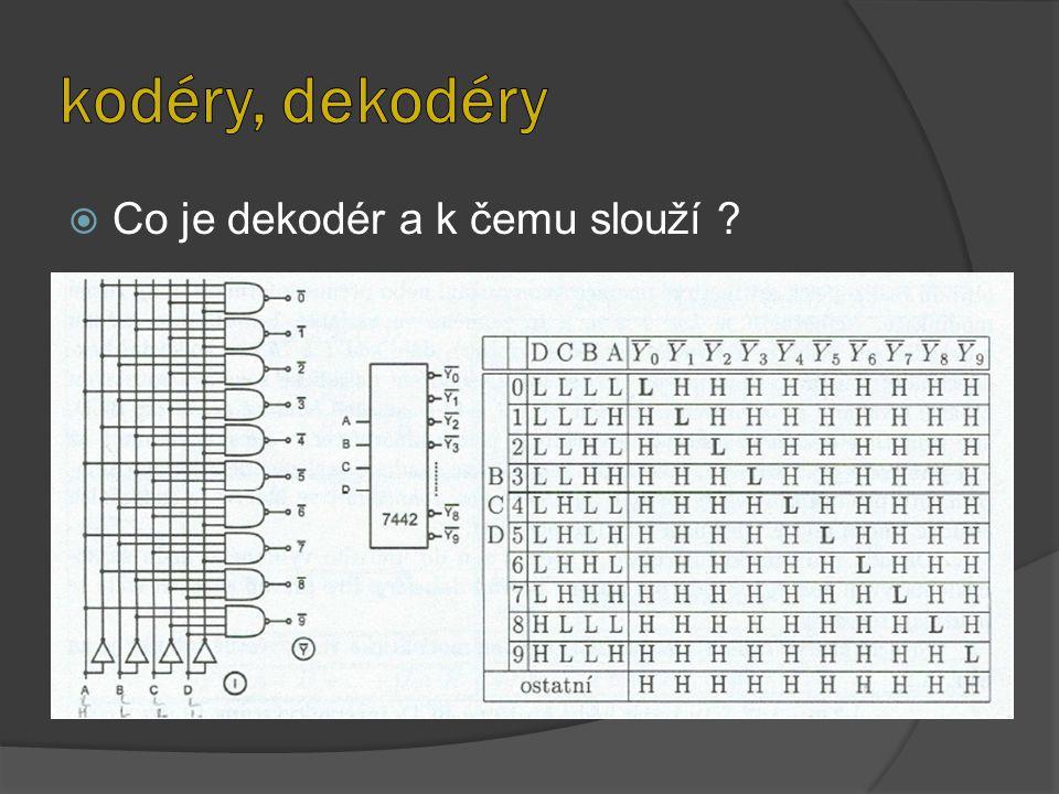 kodéry, dekodéry Co je dekodér a k čemu slouží