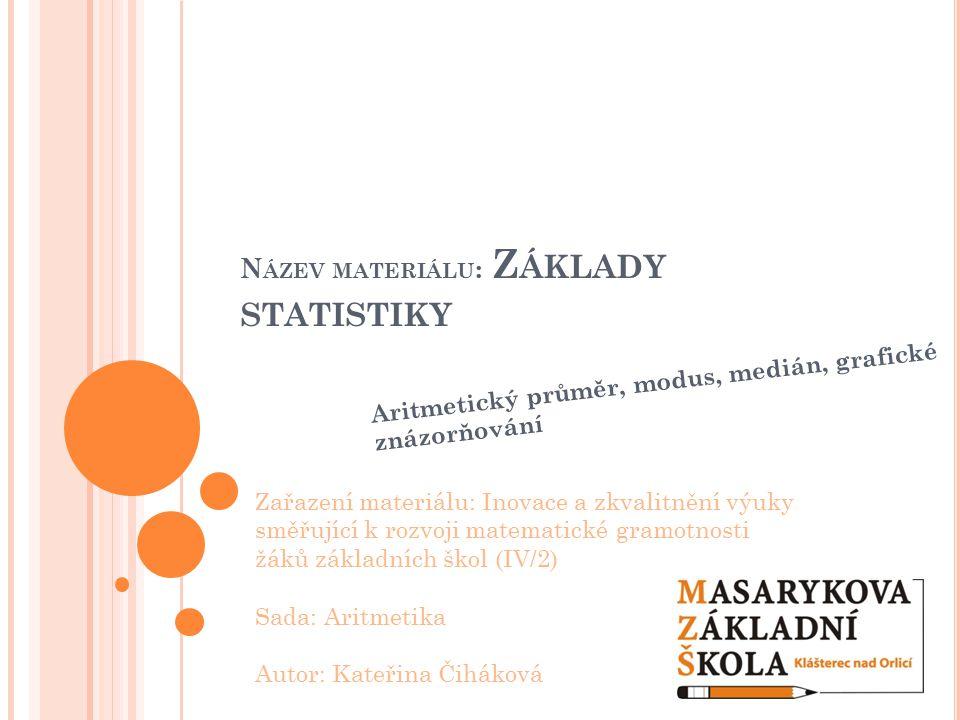 Název materiálu: Základy statistiky