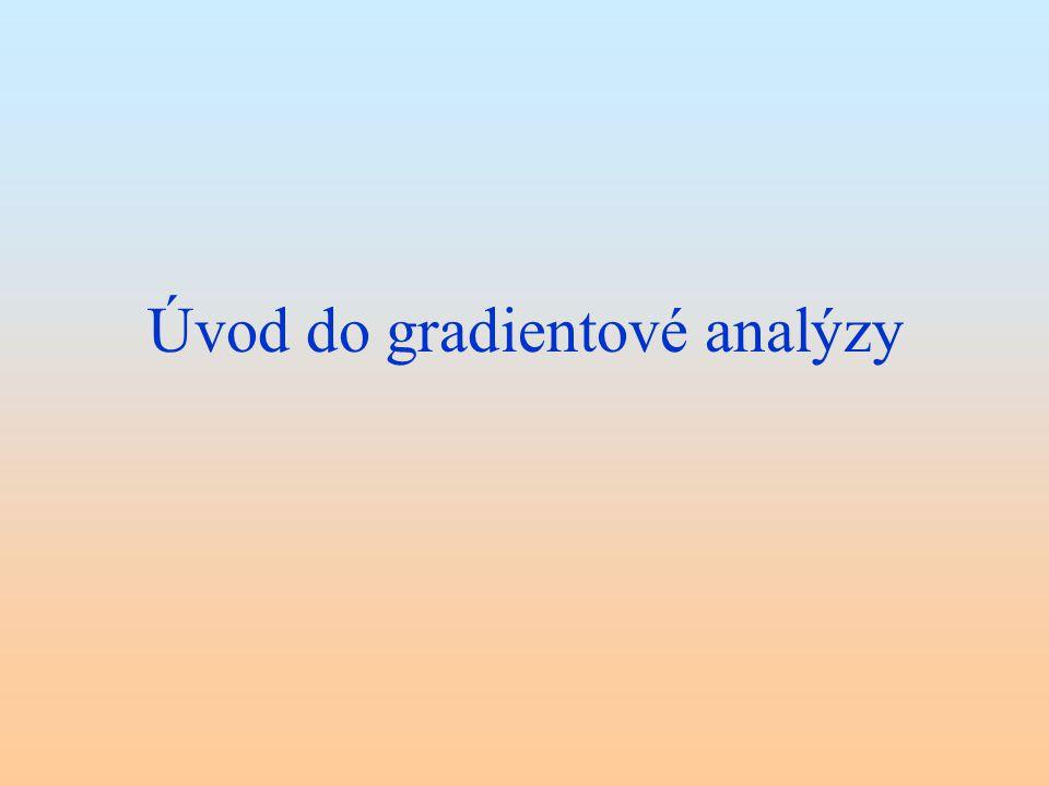 Úvod do gradientové analýzy