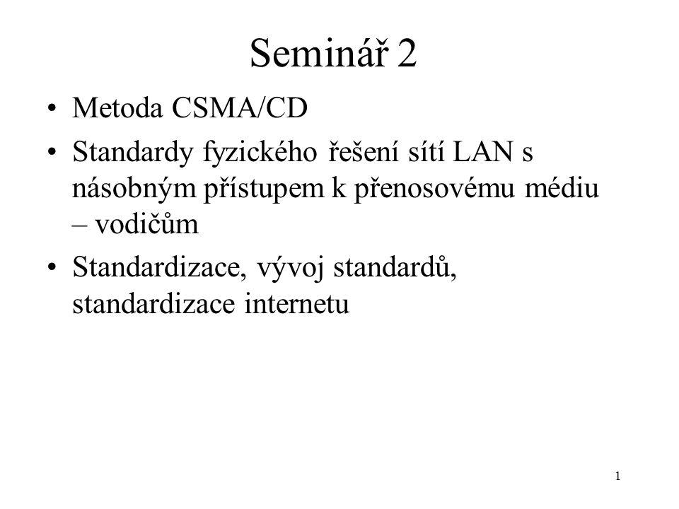 Seminář 2 Metoda CSMA/CD