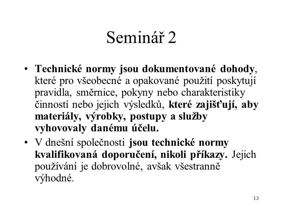 Seminář 2