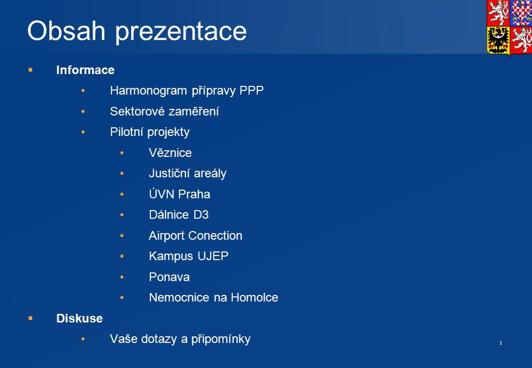 Pilotní PPP projekty v ČR duben 2007