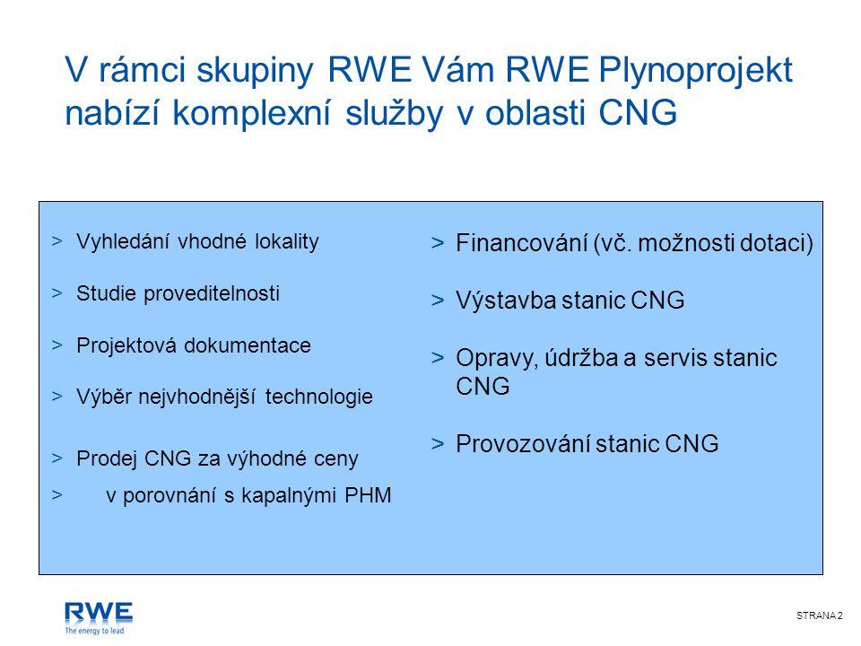RWE Plynoprojekt je největším dodavatelem plnicích stanic CNG v České republice