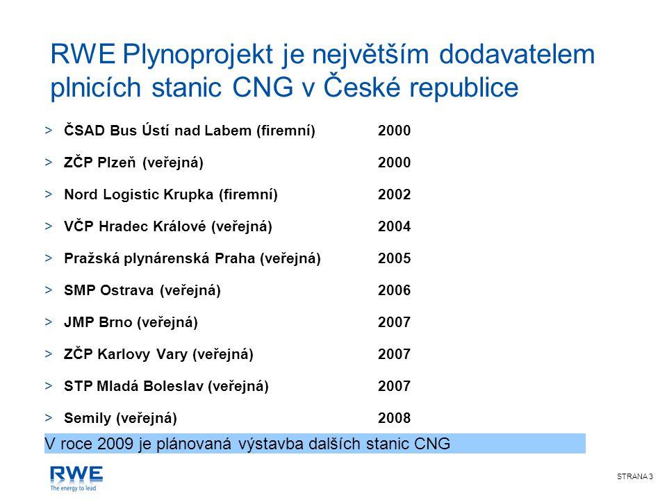 Prodej CNG na stanicích RWE