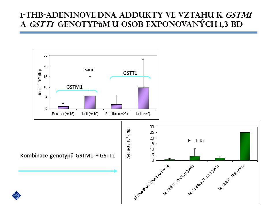 Kombinace genotypů GSTM1 + GSTT1