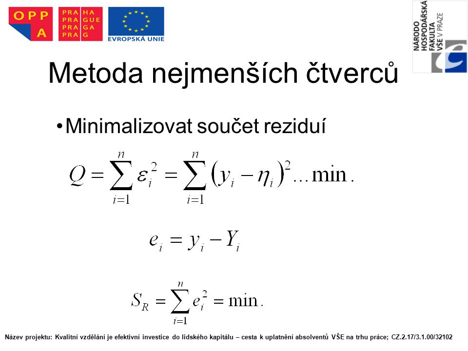 Metoda nejmenších čtverců
