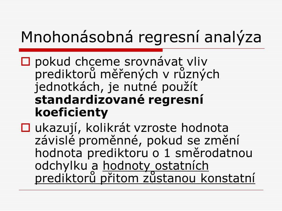 Mnohonásobná regresní analýza