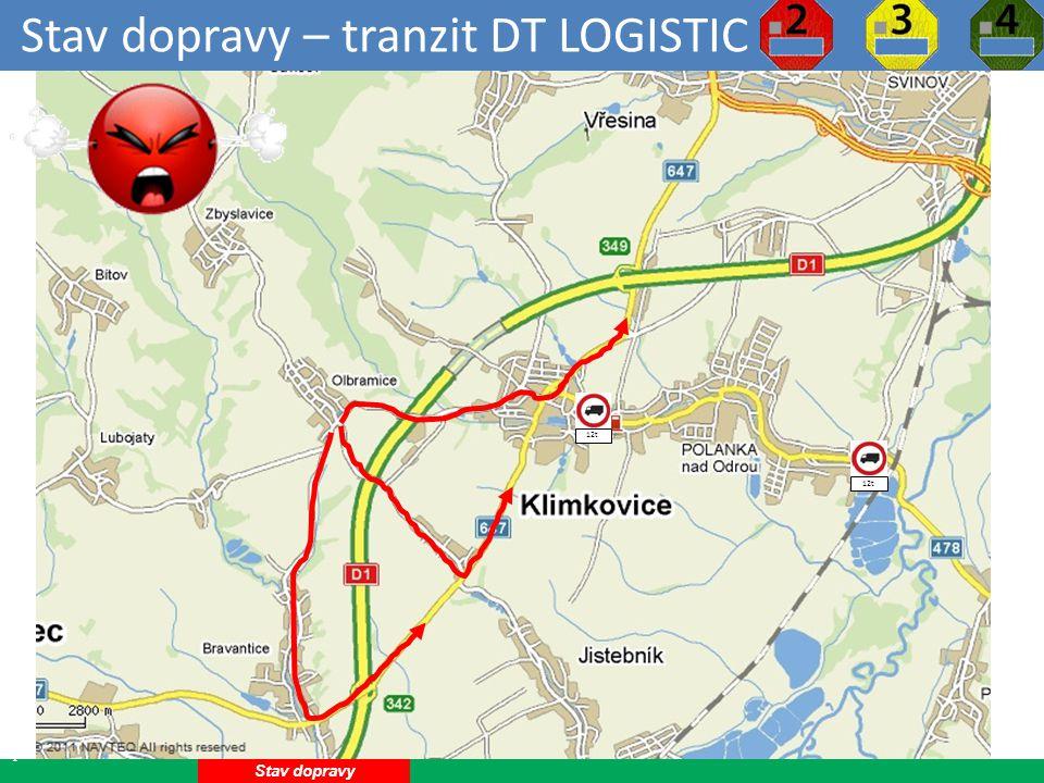 Stav dopravy – tranzit DT LOGISTIC