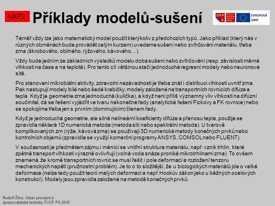 Příklady modelů-sušení
