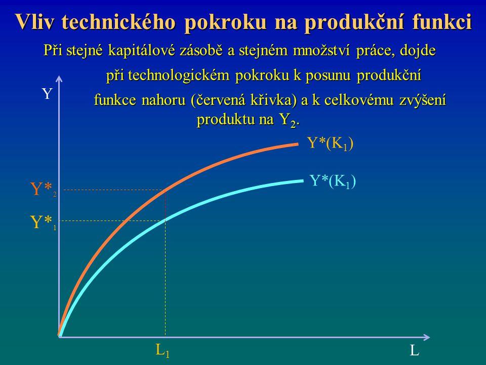 Vliv technického pokroku na produkční funkci