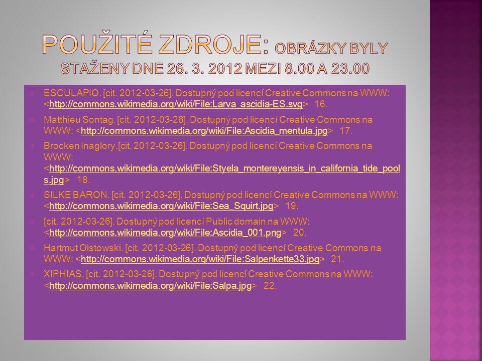 Použité zdroje: Obrázky byly staženy dne 26. 3. 2012 mezi 8.00 a 23.00