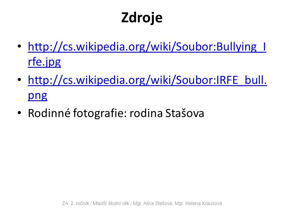 Zdroje http://cs.wikipedia.org/wiki/Soubor:Bullying_Irfe.jpg