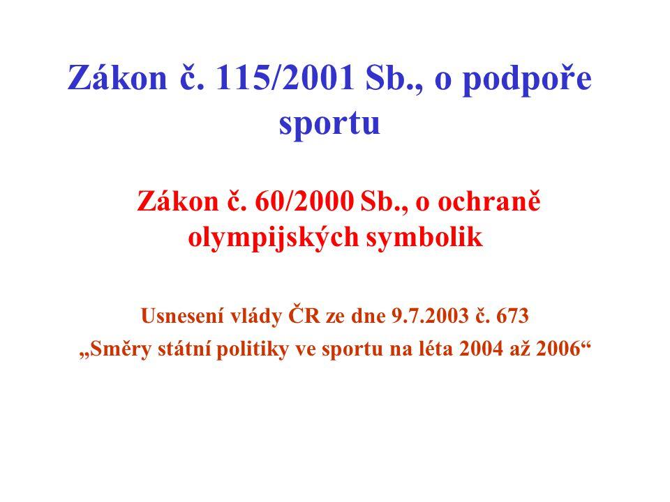 Zákon č. 115/2001 Sb., o podpoře sportu