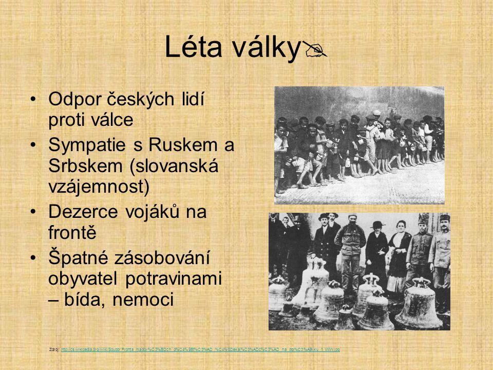 Léta války Odpor českých lidí proti válce