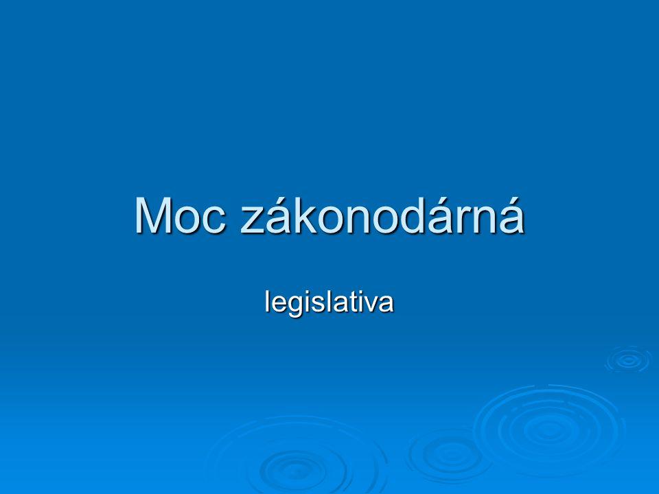 Moc zákonodárná legislativa